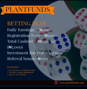 Plantfunds betting plan