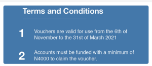 Standard chartered jumia voucher claim terms and conditions