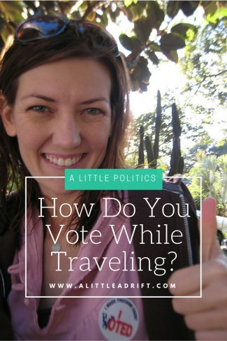Helpful advice and tips on how to vote while traveling. A Must read for all traveling Americans!