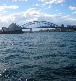 Sydney Harbor from the ferry that goes to the Toronga Zoo