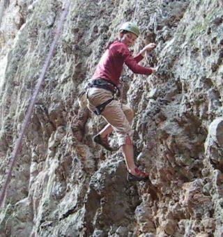 Rock climbing in Vang Vieng, Laos