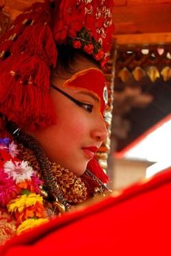Kumari Living Goddess *taken by Flickr user bipin_ss1