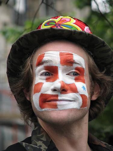 Actor at the Edinburgh Fringe Festival, Scotland