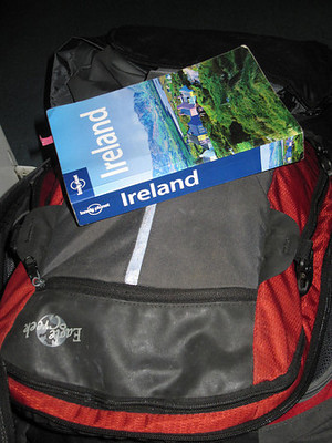 lonely planet and backpack