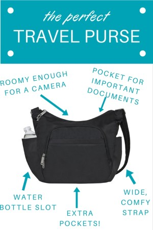The best cross-body purse for travelers. It can be hard to find the right fit, size and comfort, but his one is well-designed and perfect for stylish yet comfortable and convenient travels!