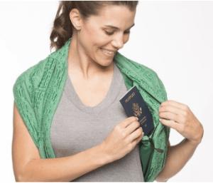 pocket travel scarf