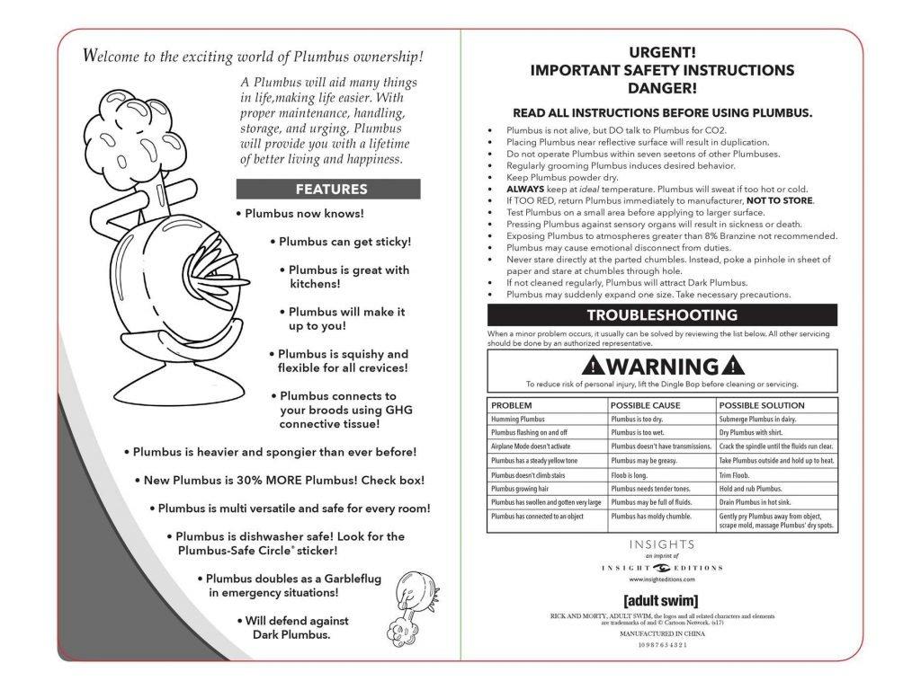 Plumbus owners manual