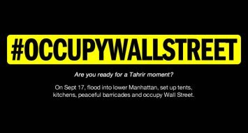 occupy wall street announcement