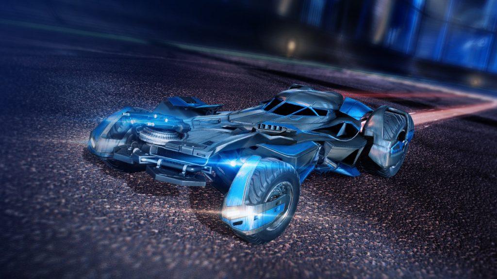 rocket league batmobile car