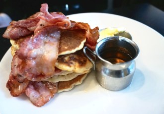 CAU Restaurant - Pancakes and Bacon - Brunch in Amsterdam - Bekah Molony