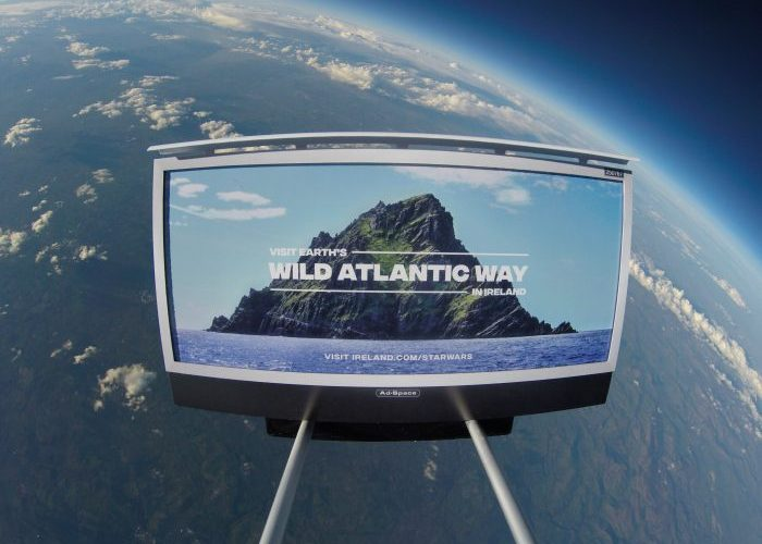 Ireland Launches first billboard into space - Bekah Molony - alittlebitofb.com - Star Wars