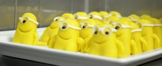 Minions waiting to be dressed