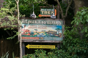 The entrance to the Kilimanjaro Safari ride