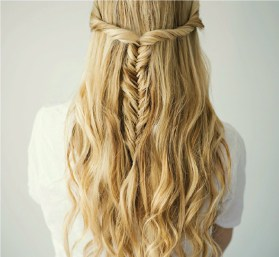 half-updo-fishtail-braid