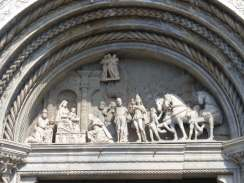 Above church doorway in Como