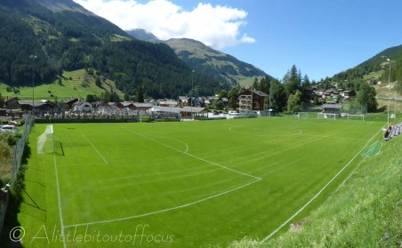 Evolène football pitch