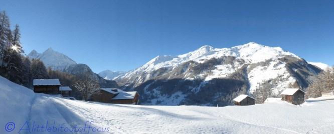 Veisivis and snowy ridge