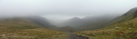 8 Out of the clouds towards Coledale Hause