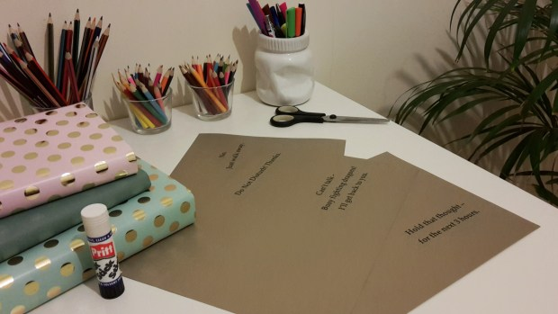 DIY Friday – Luxury dust jackets that get your message across. Step 4