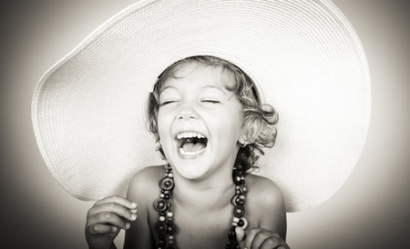 young girl laughing
