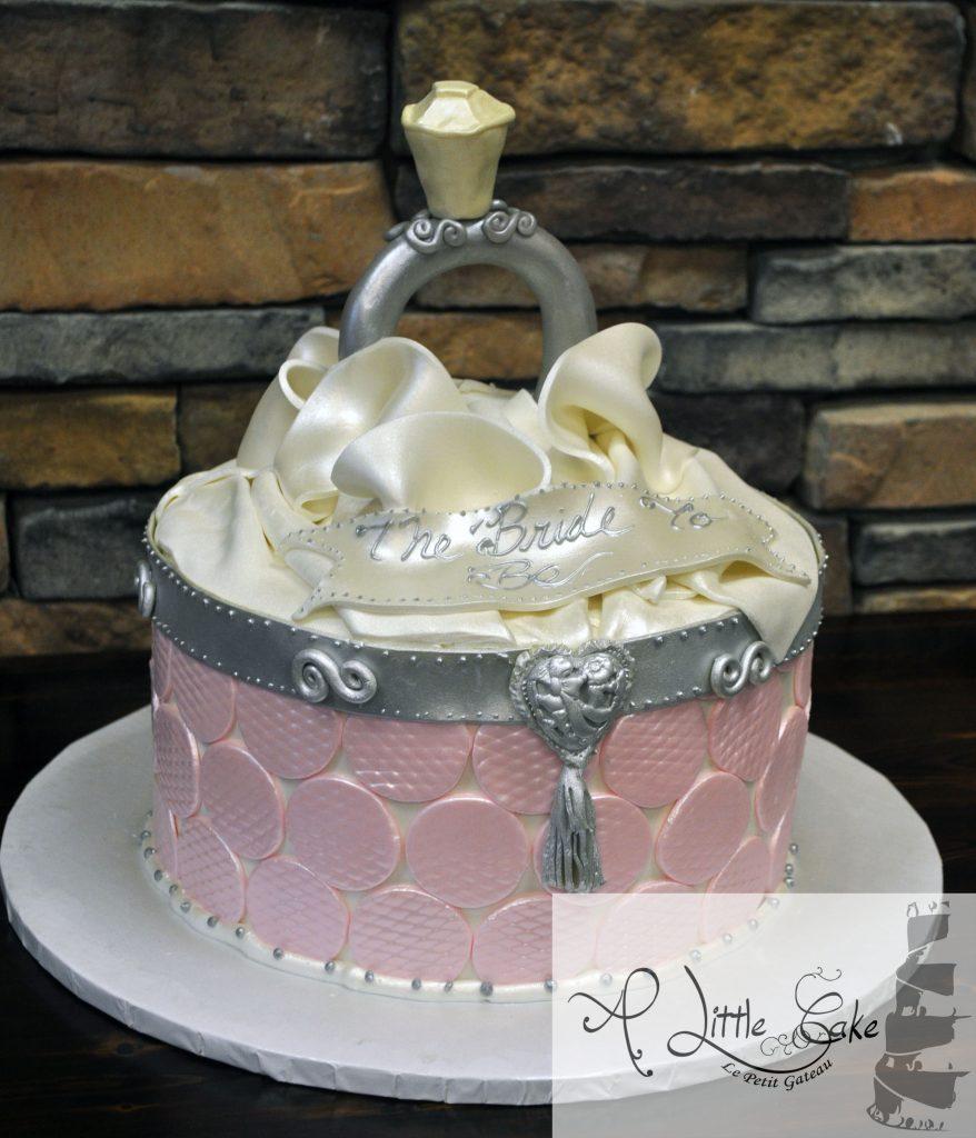 Bridal Shower Cake Open Ring Box Themed Cake A Little Cake