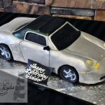 Sculpted Porsche Car Birthday Cake A Little Cake