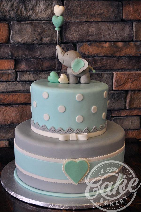 Elephant Baby Shower Sheet Cake : elephant, shower, sheet, Shower, Little