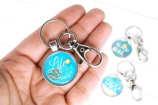 Life is Better at the Beach Keychain