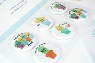 Cute Cactus Pun Magnets