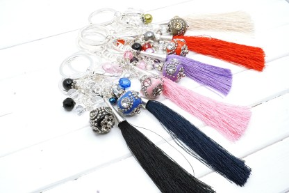 indonesian bead bag charm collection