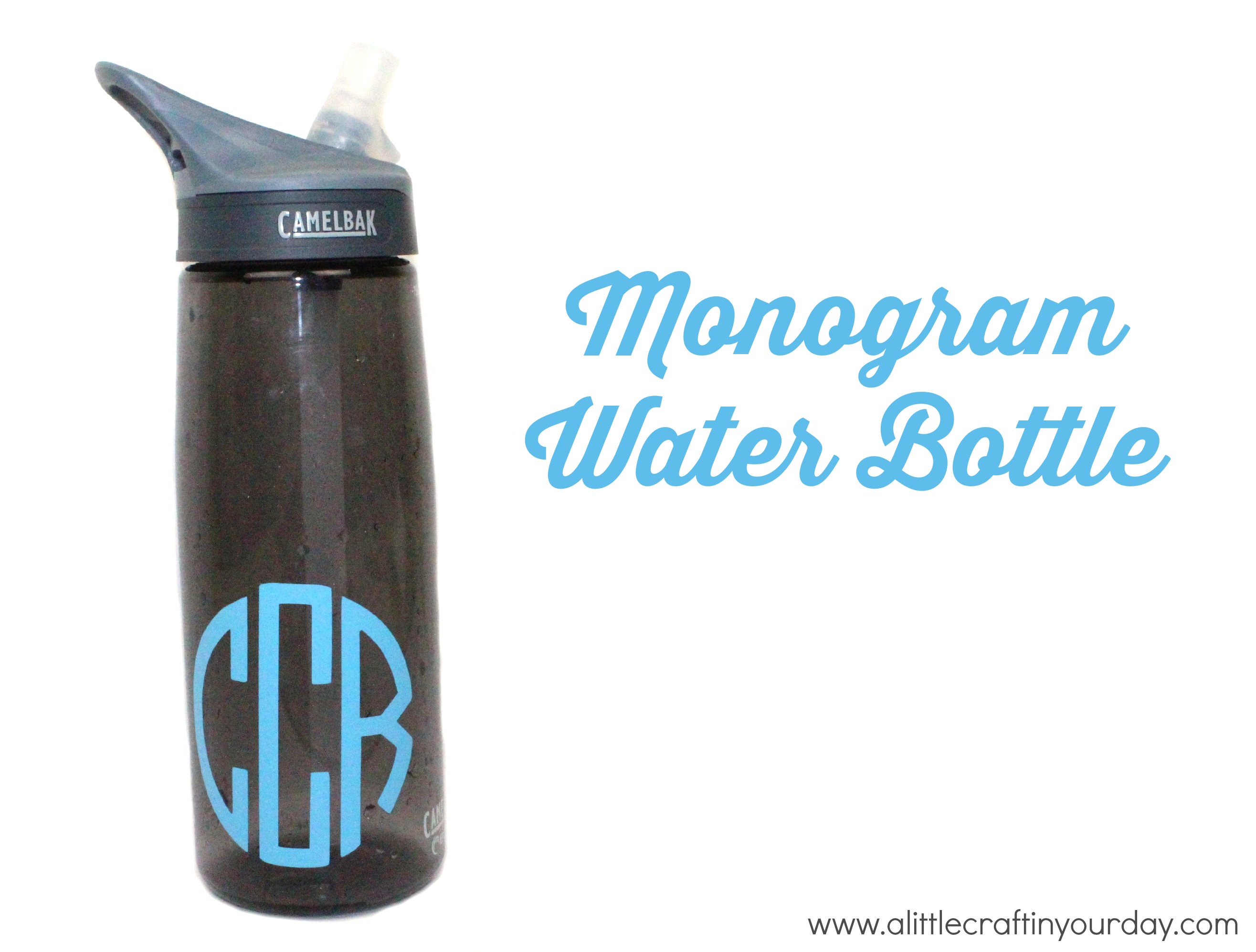 monogram water bottle a