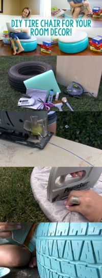 DIY Tire Chair - A Little Craft In Your Day