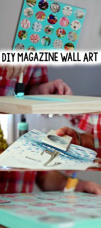 DIY Magazine Wall Art - A Little Craft In Your Day