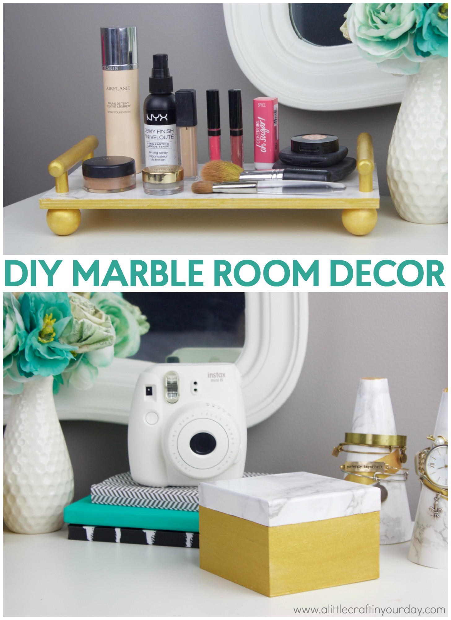 DIY Marble Room Decor  A Little Craft In Your Day