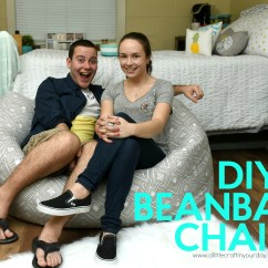 What Size Bean Bag Chair Do I Need Small Scale Upholstered Dining Chairs Diy A Little Craft In Your Day Beanbag