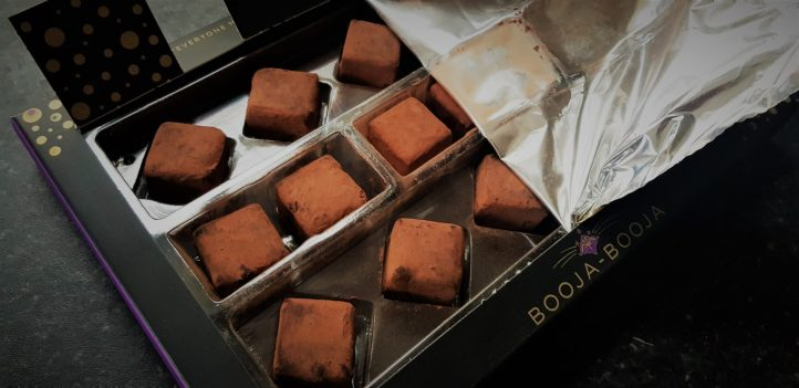 Inside the Booja - Booja truffle selection box