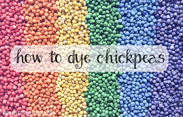 colour me happy :: how to dye chickpeas