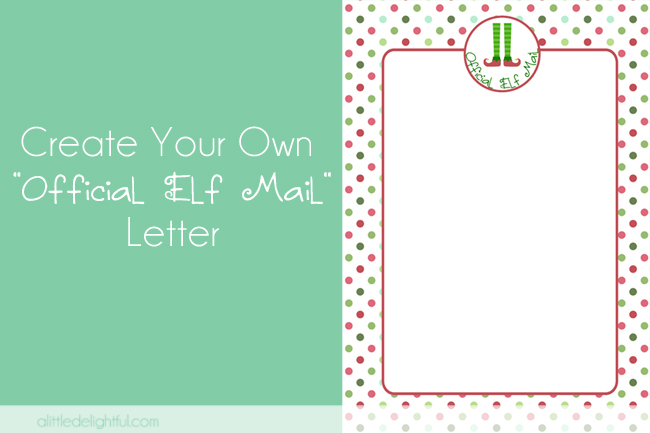 create your own 'Official Elf Mail' letter - a pic monkey tutorial