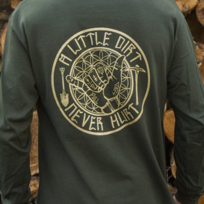 Green & Gold Long Sleeve T Shirt.