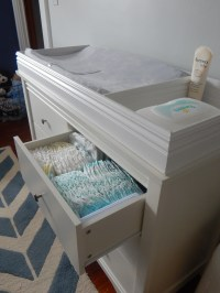 DIY CHANGING TABLE TOP  { a little diy }