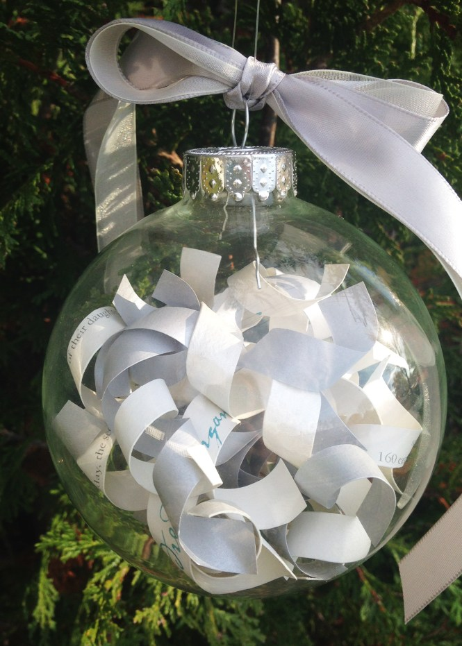 How To Turn A Wedding Invitation Into An Ornament Little