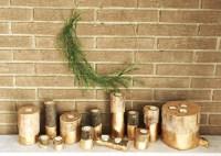 DIY log candle holder - a little kooky