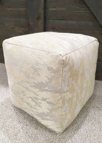DIY West Elm-inspired floor pouf - a little kooky
