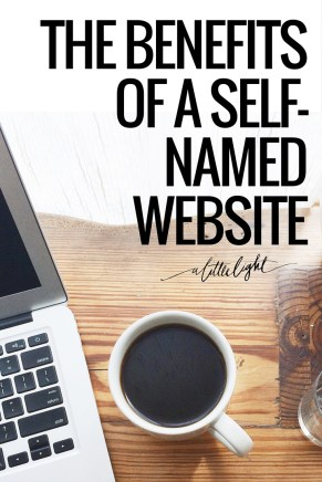 the benefits of self named websites