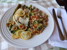 Tilapia en Papillote with Brown Rice Pilaf