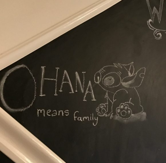 Ghanian means family chalkboard wall