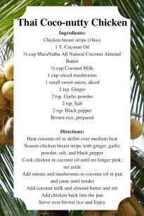 Thai Coco-nutty Chicken
