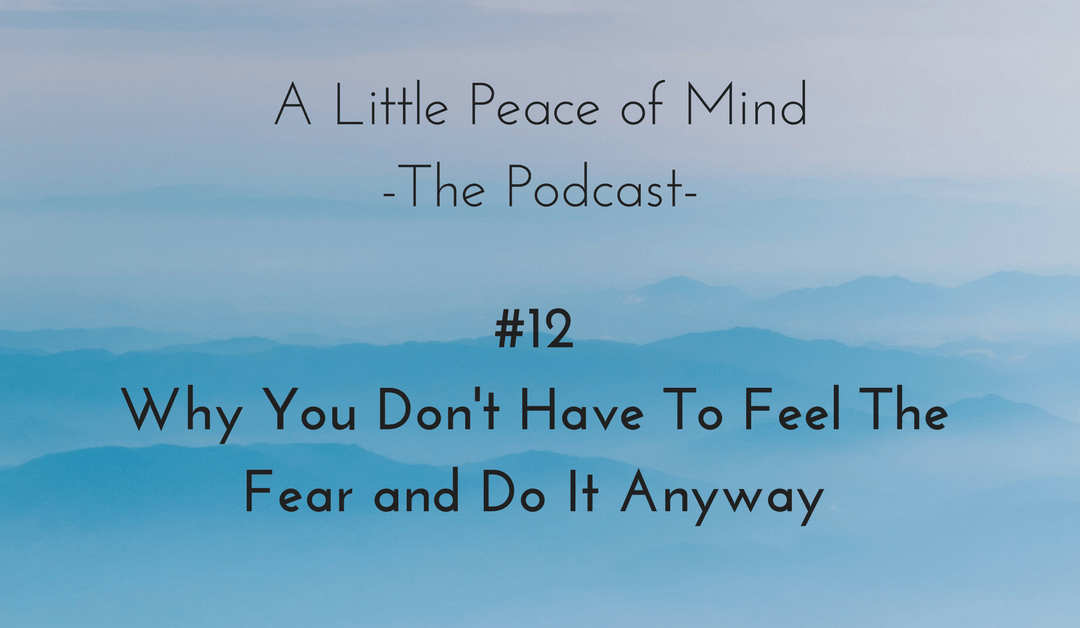 Episode 12 – Why You Don't Have To Feel The Fear and Do It Anyway