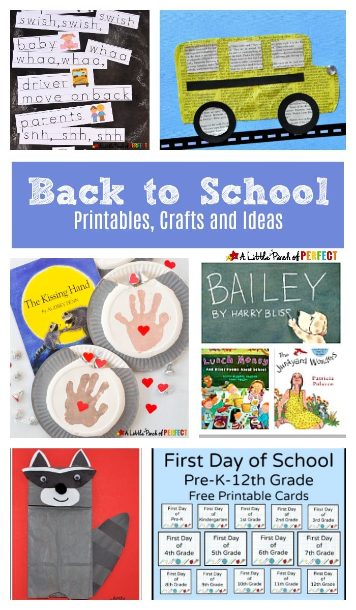 Back To School Printables Crafts And Ideas
