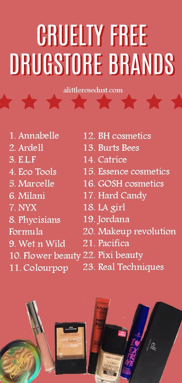 cruelty free drugstore makeup brands